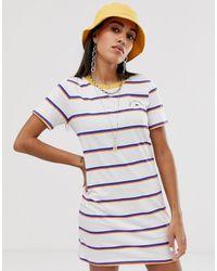 Vans Платье-футболка В Полоску - Многоцветный