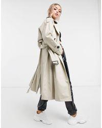 4th & Reckless Trench-coat croisé avec ceinture - Crème - Neutre