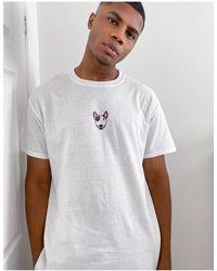 New Love Club Dog Print T-shirt - White