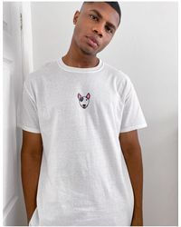 New Love Club T-shirt bianca con stampa con cane - Bianco