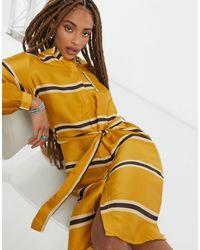 Object Желтое Платье-рубашка В Полоску Katja-желтый