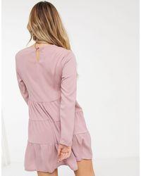 Missguided Vestido amplio - Rosa
