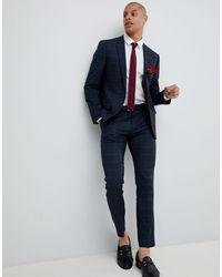 River Island Wedding Suit Jacket - Blue