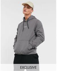 Calvin Klein Оловянно-серый Худи С Логотипом По Центру На Груди И Вертикальным Логотипом На Спинке Эксклюзивно Для Asos