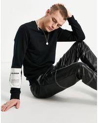 Religion Patch Sweatshirt - Black