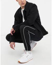 New Look Черные Джоггеры С Махровой Изнанкой -черный