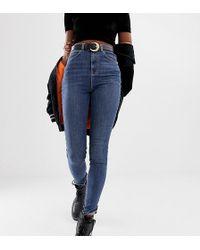 Collusion Enge Jeans in verwaschenem Mittelblau