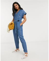 Oasis Denim Utility Jumpsuit - Blue