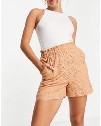 Y.A.S Organic Cotton Broderie Shorts Co-ord - Multicolour