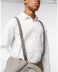 ASOS Wedding Suspenders - Brown