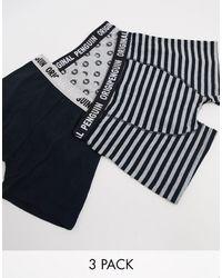 Original Penguin Confezione da 5 boxer color nero e grigio tinta unita