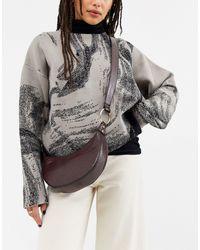 ASOS Curved Hobo Cross Body Bag - Brown