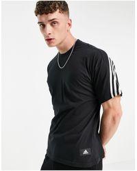 adidas Originals Черная Футболка С 3 Полосками Adidas-черный