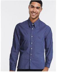 Lacoste Polkadot Long Sleeve Shirt - Blue