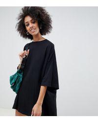 Weekday - Huge T-shirt Dress In Black - Lyst