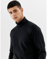 SELECTED Roll Neck Long Sleeve Top - Black