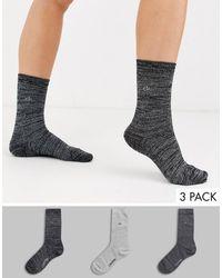 Calvin Klein Набор Из 3 Пар Серых Носков В Подарочной Упаковке -серый
