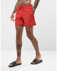 Lyle & Scott | Swim Shorts In Red | Lyst