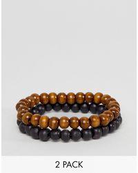 ASOS - Beaded Bracelet Pack - Lyst