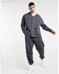 ASOS Oversized Jersey Cardigan - Gray