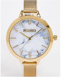 Missguided Золотистые Часы С Сетчатым Браслетом -золотой - Многоцветный