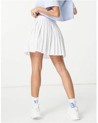 Missguided Pleated Tennis Skirt - White