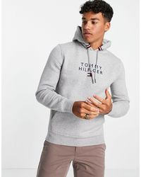 Tommy Hilfiger - Chest Stacked Flag Logo Hoodie - Lyst