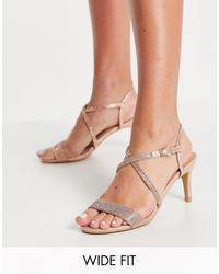 New Look Strappy Heeled Sandals - Pink