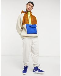 ASOS Hoodie oversize imitation peau - Multicolore