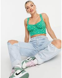 Motel - Crop Top With Ruch Bust - Lyst