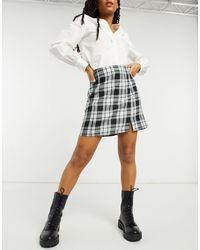 New Look Split Front Mini Skirt - Black