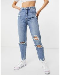 Pimkie Mom Jean With Rips - Blue