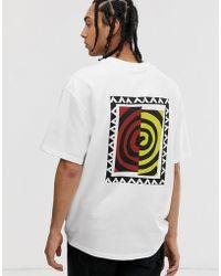 Weekday Great T-shirt With Swirl Print - White