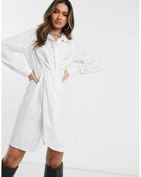 Public Desire Structured Shirt Dress - White