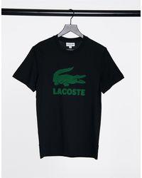 Lacoste Large Croc Logo Tee - Black