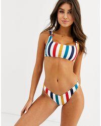 Volcom Draw The Line High Leg Bikini Bottom - Multicolor