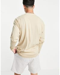 New Look Long Sleeve T-shirt With Pocket - Natural