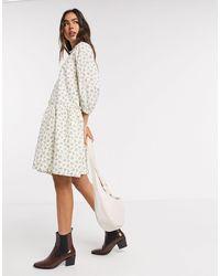 Y.A.S Smock Shirt Dress - Multicolor