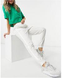 Lacoste Белые Спортивные Штаны От Костюма С Логотипом -белый