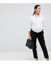 ASOS - Asos Design Maternity Woven Peg Pants With Obi Tie - Lyst