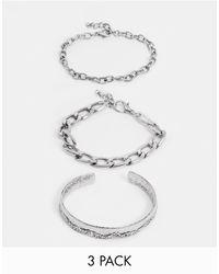 Reclaimed (vintage) Inspired Bracelet Bangle Pack - Metallic