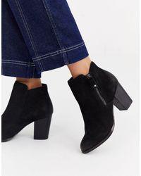 ALDO Side Zip Round Toe Mid Heel Boot - Black
