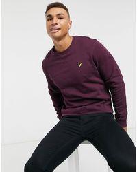 Lyle & Scott Crew Neck Sweatshirt - Purple