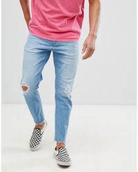ASOS Stretch Tapered Jeans - Blue