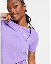 Champion Фиолетовая Футболка С Маленьким Логотипом -фиолетовый Цвет - Пурпурный