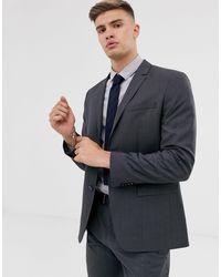 Calvin Klein Фактурный Приталенный Пиджак -серый