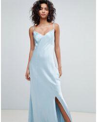 Ghost - Bridesmaid Satin Maxi Cami Dress - Lyst