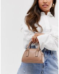 ASOS Micro Grab Bag With Detachable Strap - Brown