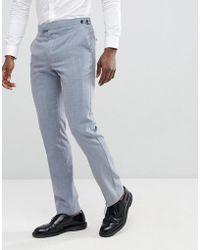 Reiss - Slim Wedding Suit Trousers In Wool Mix - Lyst