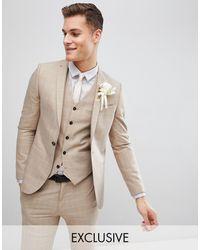 Noak Skinny Wedding Suit Jacket - Natural